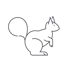 squirrel line icon sign on vector image vector image
