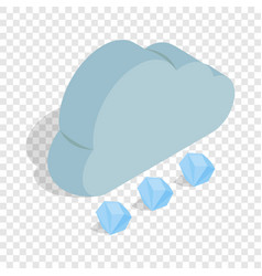 cloud and hail isometric icon vector image