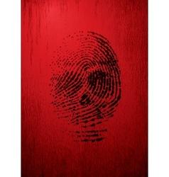 Thumbprint vector image vector image