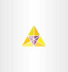yellow purple triangle business logo vector image