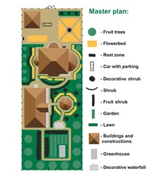General site plan to house vector image vector image