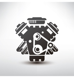 car engine symbol stylized silhouette of vector image vector image