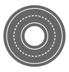 Circle road icon cartoon style vector image