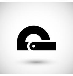 Modern protractor icon vector image vector image