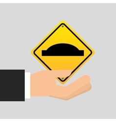 Road sign uneven icon design vector