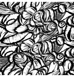 Seamless shapes hand-drawn pattern spots vector image vector image
