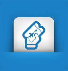 airfare icon vector image