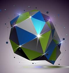Asymmetric 3d technology glossy shape with vector