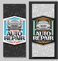 Banners for auto repair vector