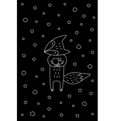Black And White Cartoon Winter vector image