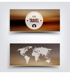 Blurred landscape background card Travel concept vector