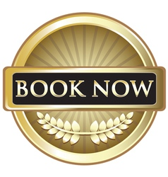 Book Now Vintage Gold Label vector