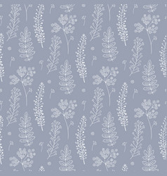 Botany seamless pattern vector