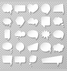 bubble speech set various empty shapes vector image