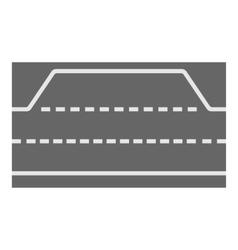 Car road icon cartoon style vector