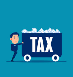 Carrying money with tax financial and economy vector