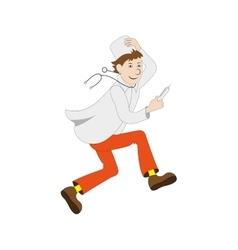 Cartoon running doctor vector