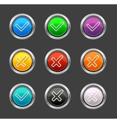 Check mark Yes No like buttons vector