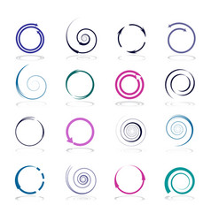circle and spiral design elements vector image