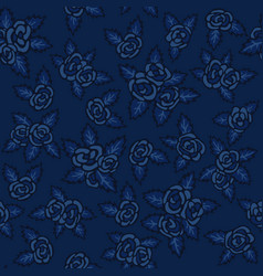 Colorful seamless pattern hand drawn navy-blue vector