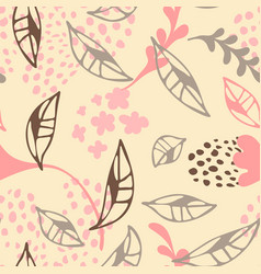 Contemporary floral seamless pattern cute vector