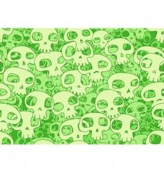 cool skulls vector image vector image