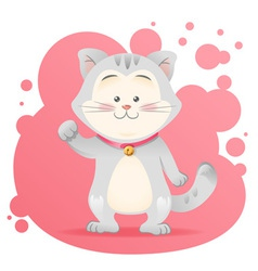 Cute cartoon cat toy card vector