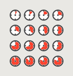 Different status of clocks collection vector