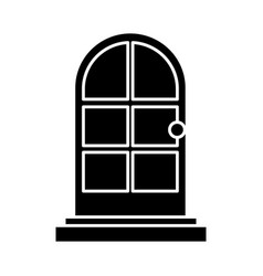door house isolated vector image