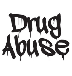 Drug abuse stamp typ vector