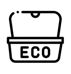 eco material package for street food icon vector image
