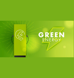 Electro power green energy symbol and charging vector