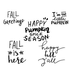 fall autumn greeting card vector image