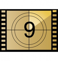 film countdown number vector image