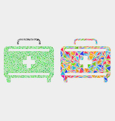 first aid case mosaic icon triangle vector image