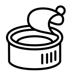 Fish tin can icon outline style vector