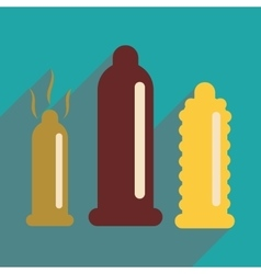 Flat web icon with long shadow condoms vector
