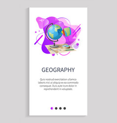 Geography globe info about earth planet subject vector