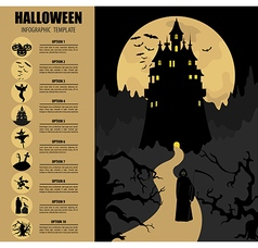 Halloween infographic template vector