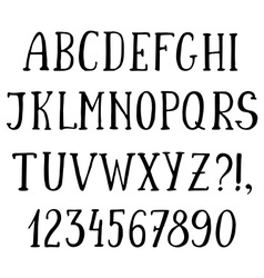 Handwritten simple font hand drawn sketch alphabet vector