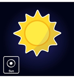 icons with Sun and astrology symbol of planet vector image