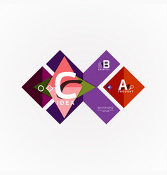 infographic options banner paper style vector image