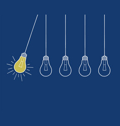 inspration-bulbs-hand-drawing vector image