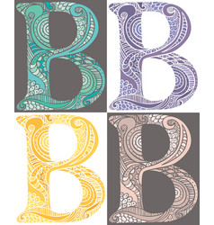 letter b vector image
