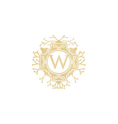 Letter w luxury logo design inspiration vector
