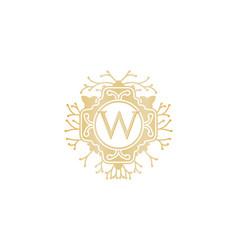 letter w luxury logo design inspiration vector image