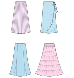 Long skirt vector