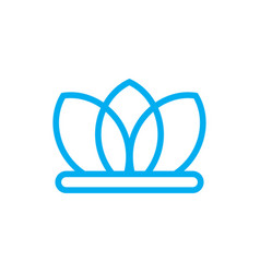 Lotus abstract logo design template vector