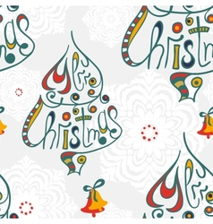 Merry christmas congratulation seamless pattern vector image