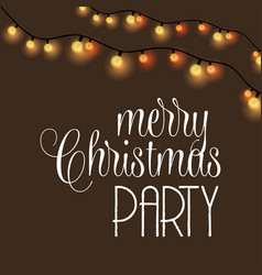 merry christmas party glowing background vector image